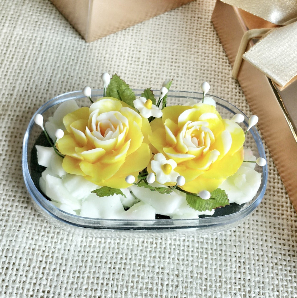 Double yellow roses hand carved in soap bar with jasmine aroma picture of double yellow roses hand carved in soap bar with jasmine aroma essential oil izmirmasajfo