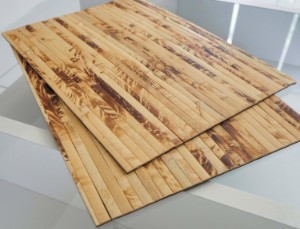Picture of Bamboo Placemats Set of 2, Heat-Resistant Table Mats 40x30cm - Yellow