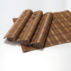 Picture of Bamboo Placemats Set of 4, Eco-Friendly Table Mats 40x30cm - Brown Slats