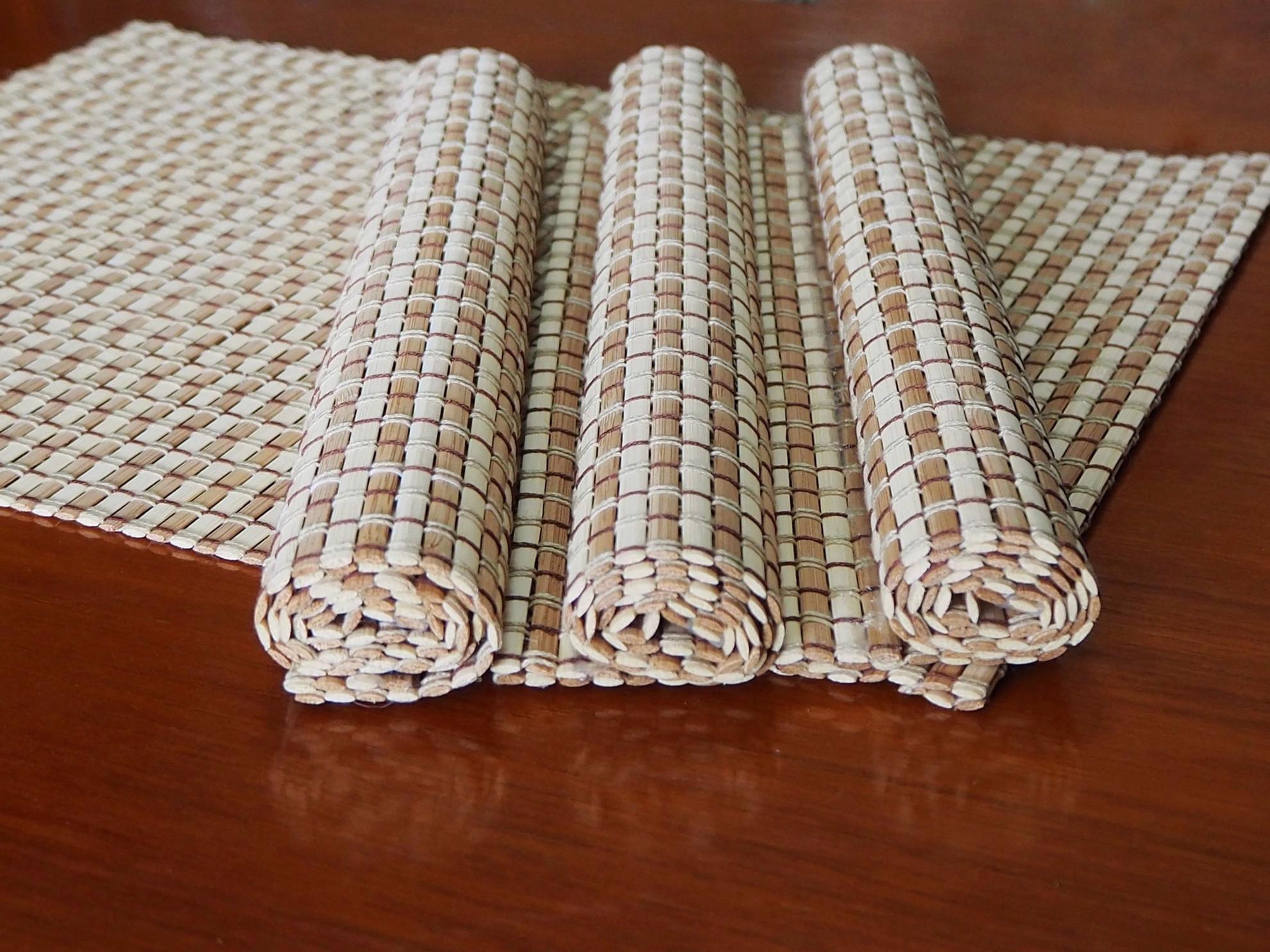 Bild von 4er Set Bambus Tischsets, Platzsets, 40x30cm