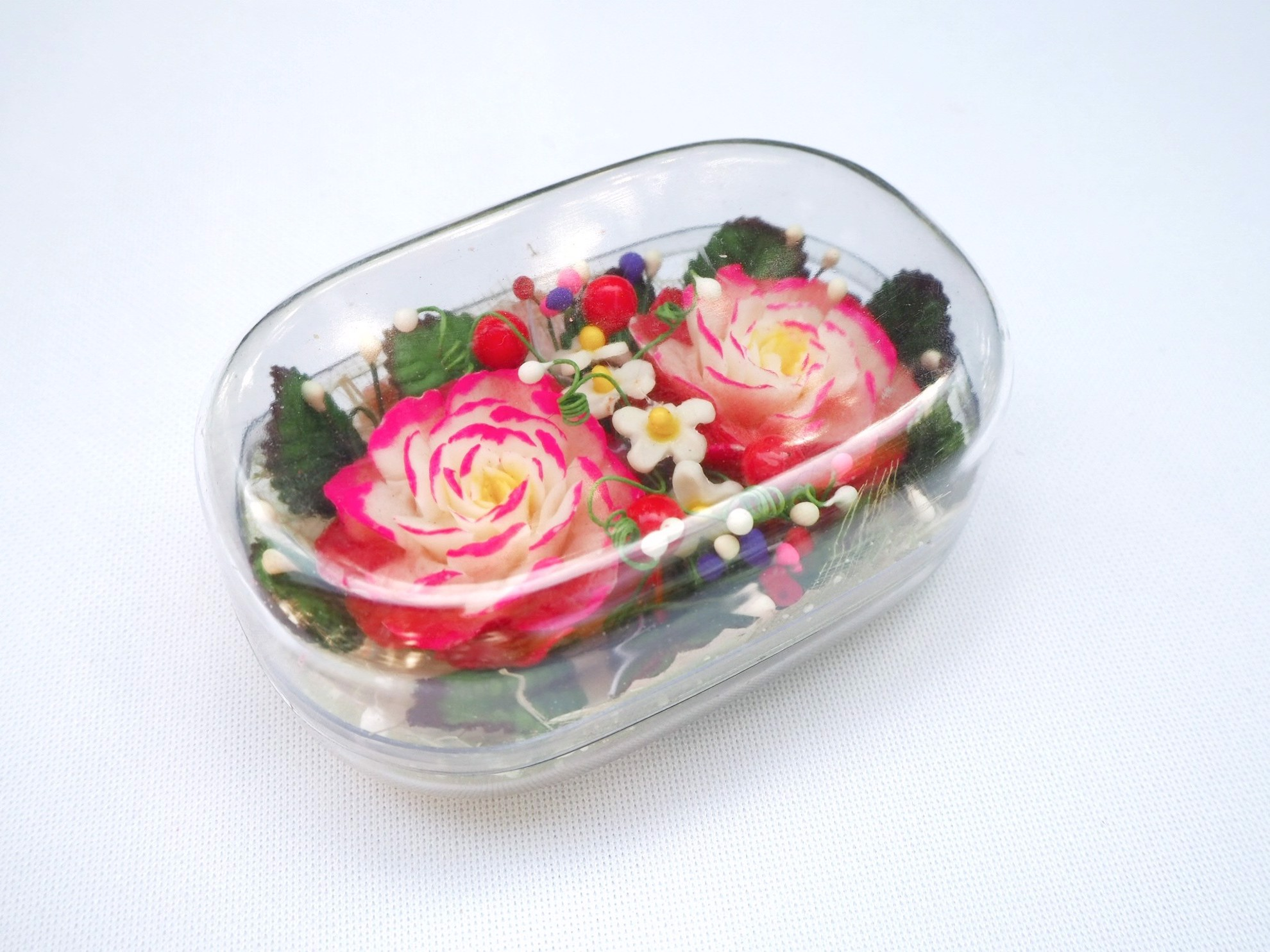 Picture of Red Roses Decorative Soap Bar, Hand Carved, Rose Aroma Essential Oil, Scented Flower Soap Carving