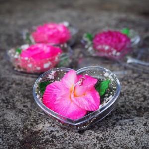 Image de Savons décoratifs de roses Valentine (4). Sculpture de savon sculpté à la main