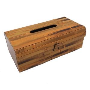 Image de Couvercle de boîte à mouchoirs en bambou, conteneur rectangulaire