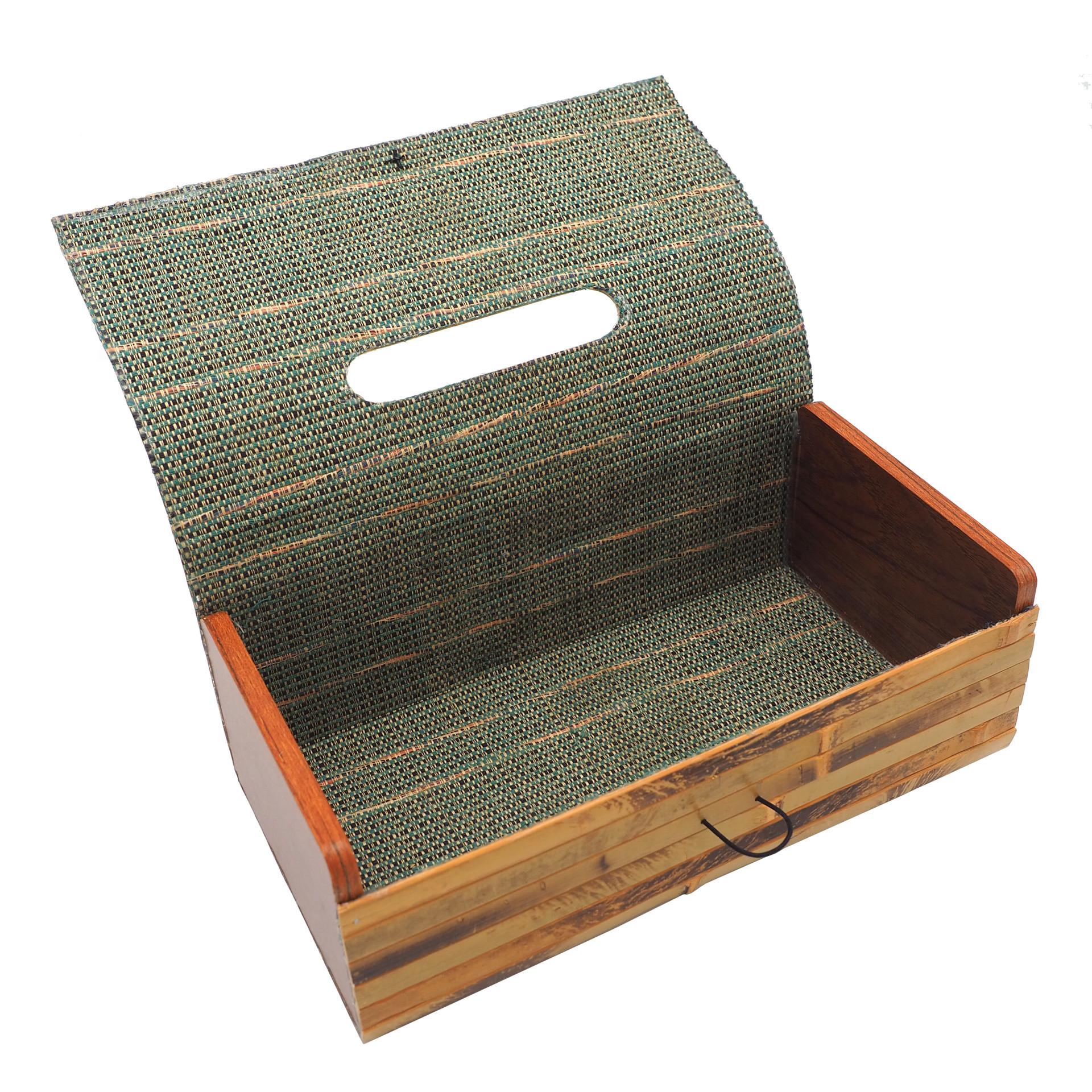 Bild von Kosmetiktücherbox aus Bambus, Tissue Box Cover, Boutique-Behälter