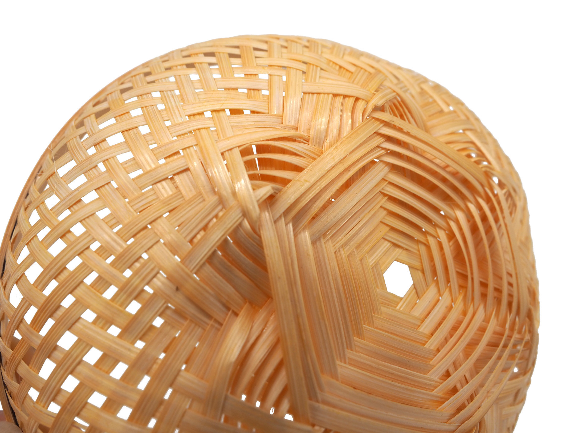 Picture of Bamboo Basket Bowl, Light, Natural made and woven by hand 15cm