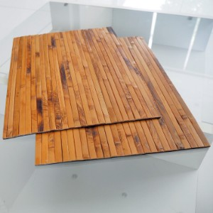 Picture of Bamboo Placemats Set of 2, Heat-Resistant Table Mats 40x30cm - Brown